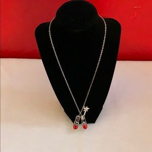 Wizard of Oz ruby slippers necklace